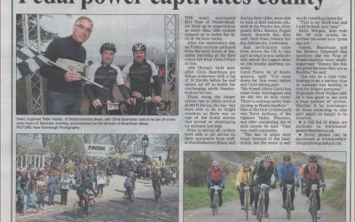Chris Boardman rides the Tour of Pembrokeshire