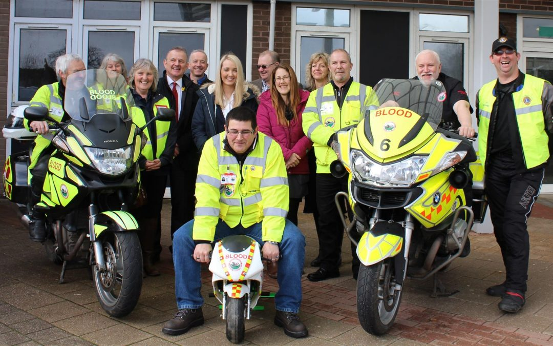 Blood Bikes Wales appointed as Official Motorcycle Provider