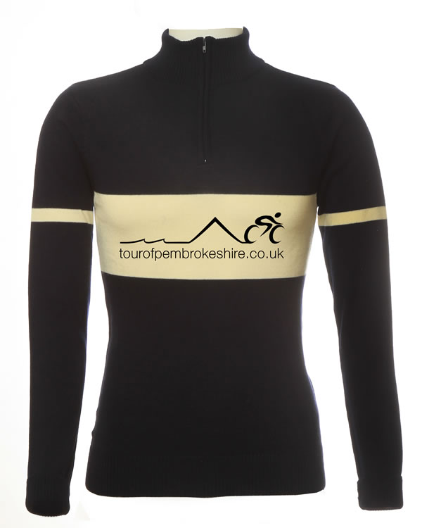 17aa39fc0 Merino Wool Cycling Jersey - Tour of Pembrokeshire