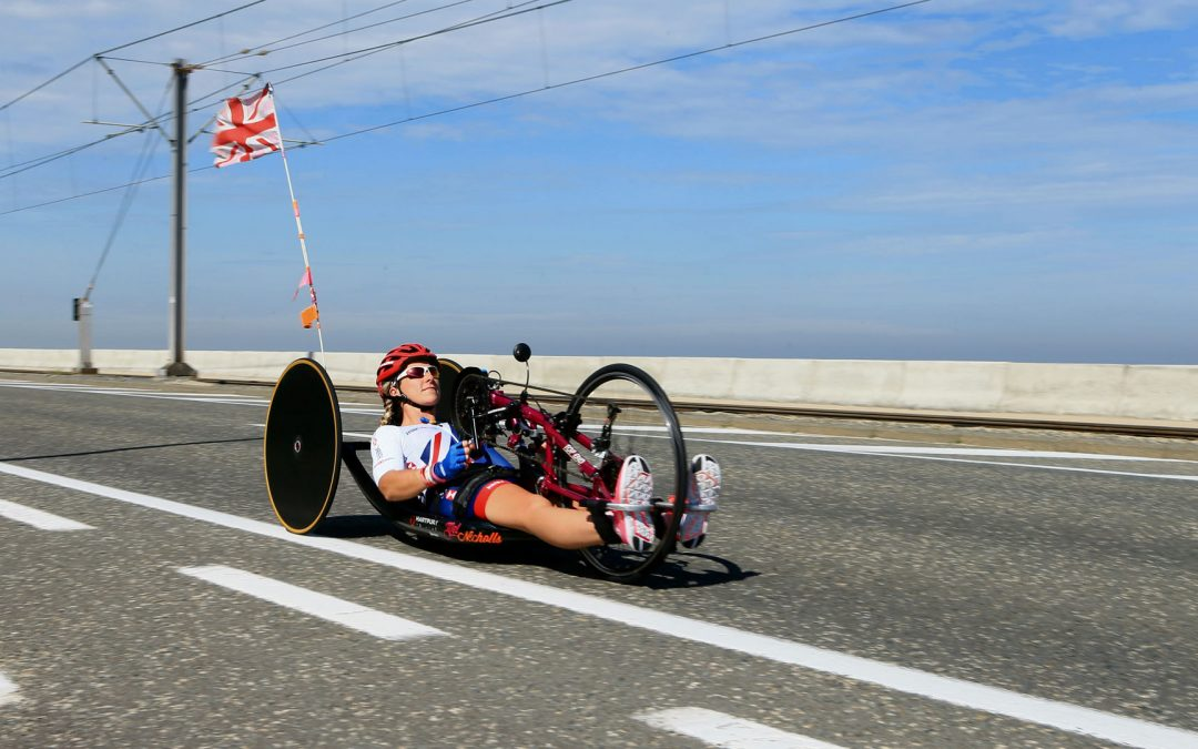 Mel Nicholls, GB Paralympic cyclist becomes Voice of the Tour.